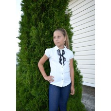 Блуза для девочки с кружевом
