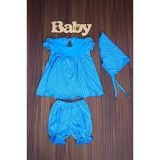 Комплект ясельный Юля (платье + шорты под памперс + косынка)