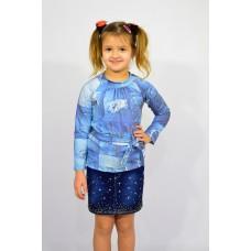 Блуза для девочки с поясом