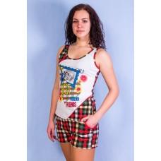 Пижама женская ( Майка + Шорты )