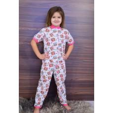 Пижама для девочки на кнопке