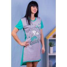 Сорочка женская с коротким рукавом