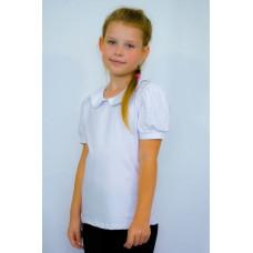 Блуза с воротником Виолетта (короткий рукав)