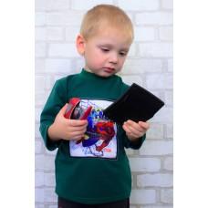 Джемпер детский с декоративной нашивкой