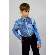 Рубашка детская с длинным рукавом