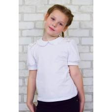 Блуза  Виолетта с бусинкой (короткий рукав)
