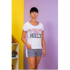 Пижама женская (футболка+шорты)