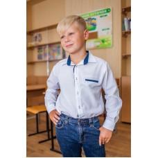 Рубашка школьная с нашивками для мальчика