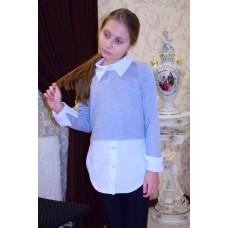 Джемпер - рубашка для девочки
