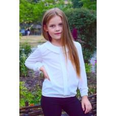 Блуза для девочки с длинным рукавом