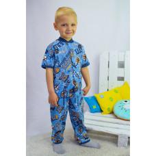 Пижама для мальчика  на кнопке