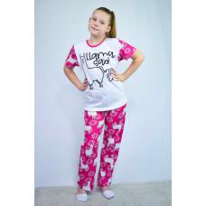 """Пижама подростковая с накатом """"LAMA"""""""